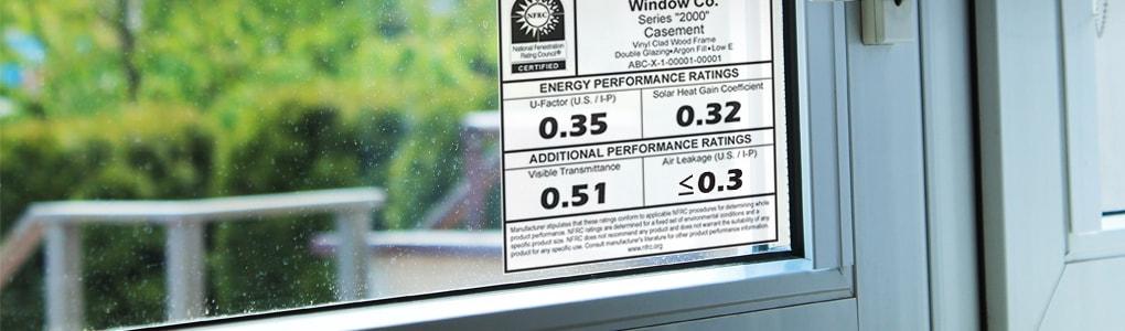 Energy performance label national fenestration rating for Andersen windows u factor